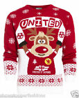 Mens Christmas Jumper Xmas Knitted Rudedolf United Novelty Sweater New S M L XL