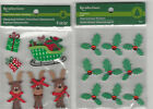 U CHOOSE  Recollections CHRISTMAS REINDEER  HOLLY 3D Stickers