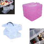 3 Tier Plastic Craft Beads Jewellery Storage Organiser Compartment Tool Box Case