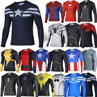 Marvel Superhero Costume Cycling Tee T-Shirt Mens Compression Casual Jersey Tops