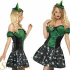 Ladies Fever Sexy Light Up Vampire Witch Halloween Fancy Dress Costume Outfit