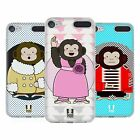 HEAD CASE DESIGNS SCIMMIE CARTOON COVER MORBIDA IN GEL PER APPLE iPOD TOUCH MP3