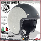 OPEN FACE HELMET OLD-JACK DIESEL E2205 MULTI - HERRINGBONE GREY SIZE L