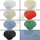 OVAL 100% COTTON HEAVY 2 PIECE BATH MAT SET RED CREAM BLACK GREEN BLUE WHITE NEW