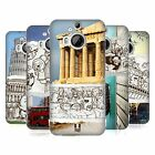 HEAD CASE DESIGNS DOODLE TRIPS HARD BACK CASE FOR HTC PHONES 2