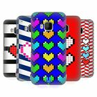 HEAD CASE DESIGNS PIXELATED HEARTS HARD BACK CASE FOR HTC PHONES 1