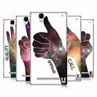 HEAD CASE DESIGNS HAND GESTURE NEBULA HARD BACK CASE FOR SONY PHONES 3