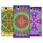 HEAD CASE DESIGNS MANDALA CROSS PATTERN HARD BACK CASE FOR SONY PHONES 3