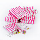 Strong Pink Candy Stripe Gift Wedding Paper Party Bags *Choose Size & Quantity*