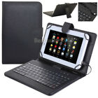 """HOT For Asus 7"""" 8"""" 10.1"""" Tablet Pad PU Leather Stand Case Cover with Keyboard"""