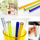 Colorful Pyrex Glass Drinking Straw Wedding Birthday Party Diameter 8mm