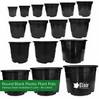 Strong Black Plastic Plant Pot / Flower Pots / Seed Planter in Various Sizes