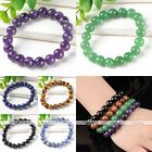 10mm Natural Gemstone Round Beads Stretch Bracelet Bangle Women Men Gift