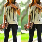CHIC New Sexy Womens Short Sleeve Loose T Shirt Summer Casual Lover Tops Blouse