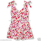 *MILEY CYRUS & MAX AZRIA Juniors Romper PINK+RED Spring Floral NEW! *YOU CHOOSE*