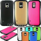 for samsung galaxy S5 case rugged hybrid dual layer black blue pink gold green