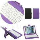 "7"" 10.1"" Folio Leather Case Cover USB Keyboard For iPad Samsung Tablet New"