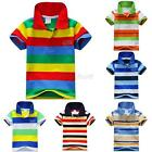 Summer Cotton Kids Boys T-Shirt Short Sleeve Children Tees Costume Tops Age 1-7Y