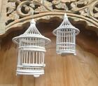 1 x Balinese Whitewash Handmade Mini Bamboo Birdcage -Choice of Size #1667