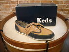 Keds Champion Skipper Camel & Navy Suede Lace-Up Boat Shoe NEW