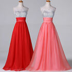 BEADED Long Wedding Homecoming Formal Evening Gown Prom Bridesmaid Party Dresses