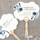 hand fans personalised - 24 Personalized Floral Orchestra Hand Fans Wedding Favors