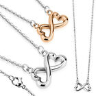 SET WOMAN CHAIN + PENDANT BUTTERFLY HEART STEEL OR GOLD PLATED COPPER 6264