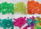 50 - 10x12mm Translucent Sparkle Butterfly Pony Beads - Color choice