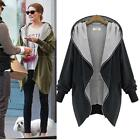 Womens Fashion Zipper Hoodie Kapuzen Jacket Parka Trench Coat Windbreaker Пальто
