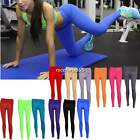 Women Ladies YOGA Pants Leggings Stretch Athletic Apparel Candy color Trousers