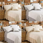 Paoletti Fayence Embossed 100% Cotton Scalloped Edge Quilted Bedspread