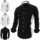 2016 New Men's Luxury Formal Casual Slim Fit Stylish Dress Shirts Black White
