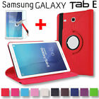 Leather Rotate Smart Case Cover + Screen Protector For Samsung Galaxy Tab E 9.6