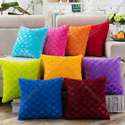 9 color options modern rhombus comfy plush cushion pillow cover case sofa home