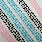 3 METRES HOUNDSTOOTH 10MM GROSGRAIN RIBBON BLUE PINK BLACK HERRINGBONE