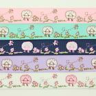 GROSGRAIN RIBBON 10-16mm 5-COLOURS-VINTAGE-FLORAL SHABBY SHEEP CHIC WEDDING