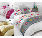 5Pc Bed In A Bag Set - Printed Luxury Duvet Cover Complete Bedding Bed Set