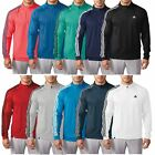 Adidas Golf 2016 3-Stripes Sleeve 1/4 Zip Pullover Lightweight Mens Golf Sweater