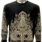 ls16b Irezumi Tattoo Long Sleeve T-shirt Hindu God Amulet Ganesh Ganesha Casual
