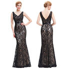 Vintage Lace Sequins Formal Long Evening Party Masquerade Gown Bridesmaid Dress