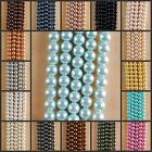 """HB1029-1045 12mm Wholesale Glass Pearl Ball Loose beads 15"""""""