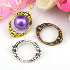 25Pcs Tibetan Silver,Antiqued Gold,Broze Oval Bead Frame Jewelry DIY M1161