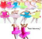 UK Girls Tutu Ballet Leotard All Colours Dance Dress Ballerina Fairy Costume NEW...