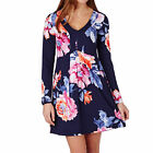 Joules Lizzie  V Neck Tunic Dress Womens  Jersey - Navy Rose