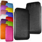 Premium PU Leather Pull Tab Case Cover Pouch For Microsoft Lumia 550