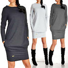 Women Long Sleeve Sweatshirt Top Casual Bodycon Pullover Tunic Jumper Mini Dress