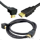 HDMI V1.4 Right Angled Gold Plated 1080p Cable 0.5 1 2 3 4 5 10 Meter HDTV Leads