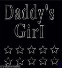 Daddy's Girl + 10 Stars iron on Rhinestone Transfer crystal hotfix t-shirt