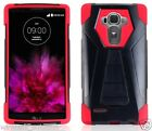 BLACK & RED T-Fusion Hybrid Cover Case for LG G4