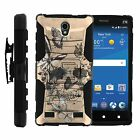 FOR SAMSUNG GALAXY PHONES CASE RUGGED ARMOR HYBRID HOLSTER Butterfly Skull Beige
